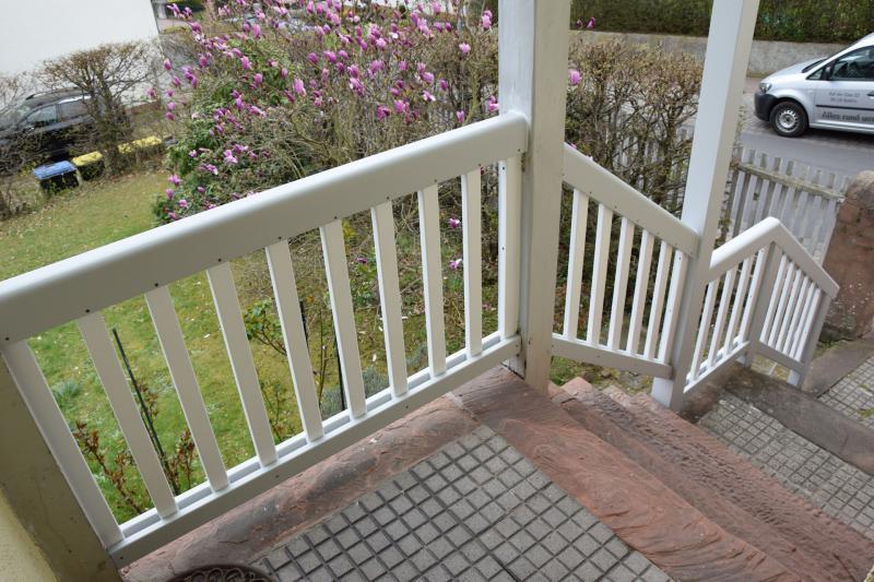 Massivholz Geländer weiß lackiert