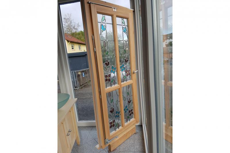 Fenster Selbstgebaut - Kernbuche massiv leicht geölt 2