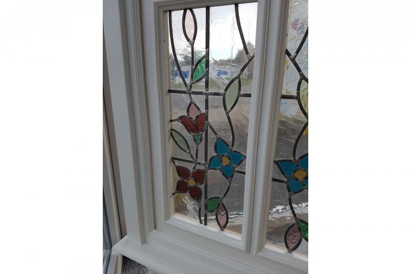 Fenster Selbstgebaut - Sauna weiß lackiert 2